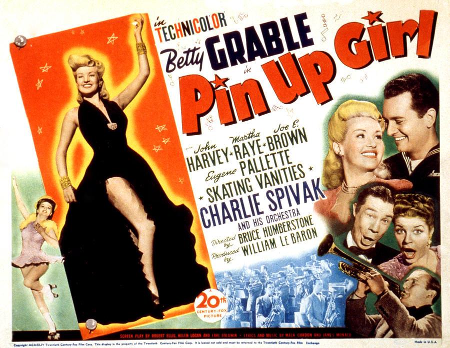 1940s Movies Photograph - Pin-up Girl, Betty Grable, John Harvey by Everett