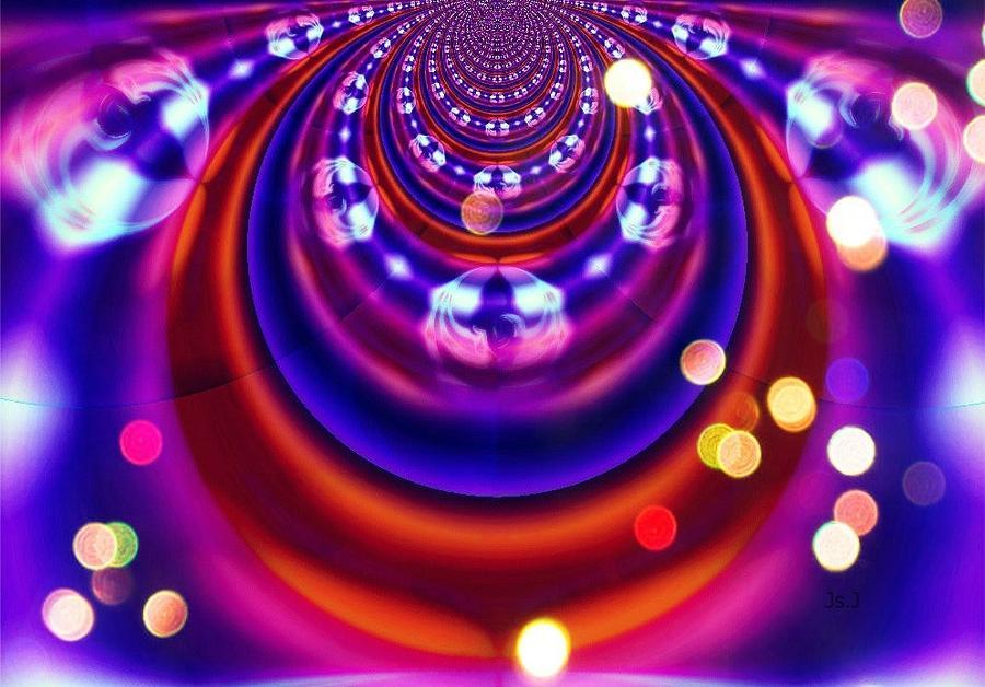 Pinball Digital Art - Pinball by Jan Steadman-Jackson