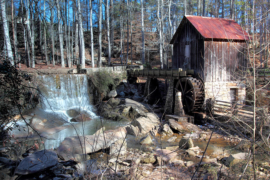 Water Wheel Photograph - Pine Run Mill by Rick Mann