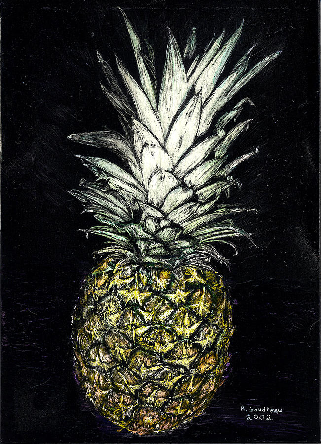 Pineapple Painting - Pineapple by Robert Goudreau