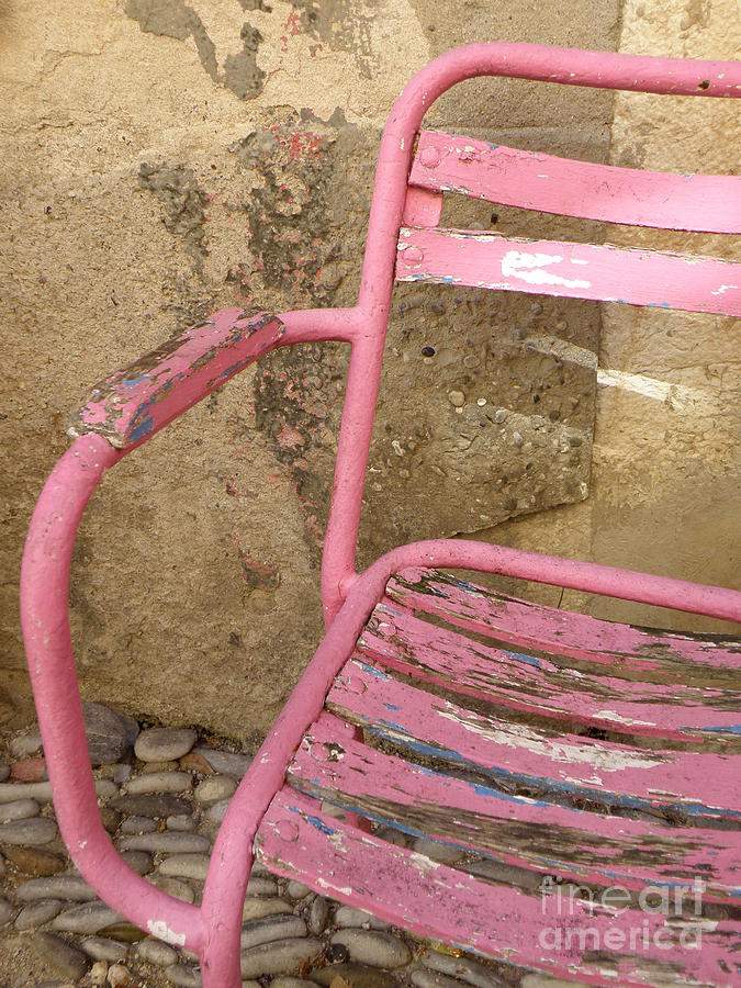 Chair Photograph - Pink Chair by Lainie Wrightson