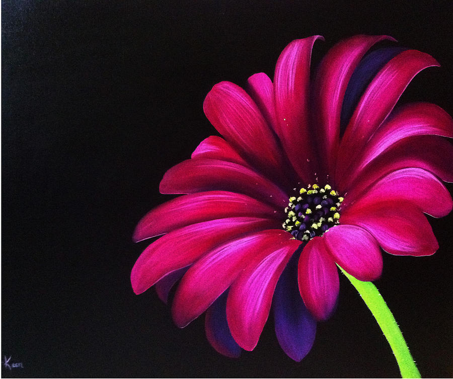 Pink Daisy Painting By Annie Keen