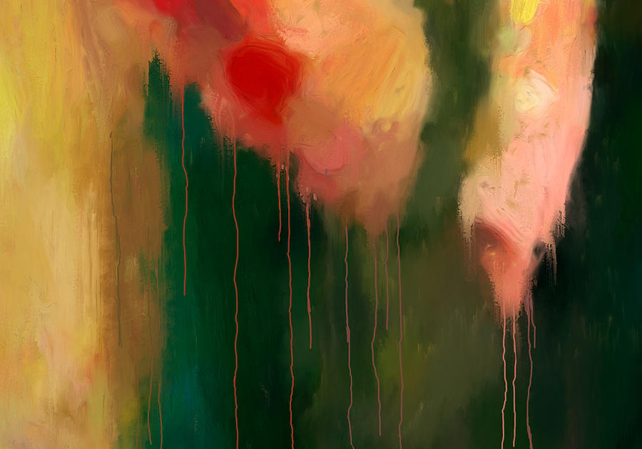 Abstract Painting - Pink Drips by Michael Pickett