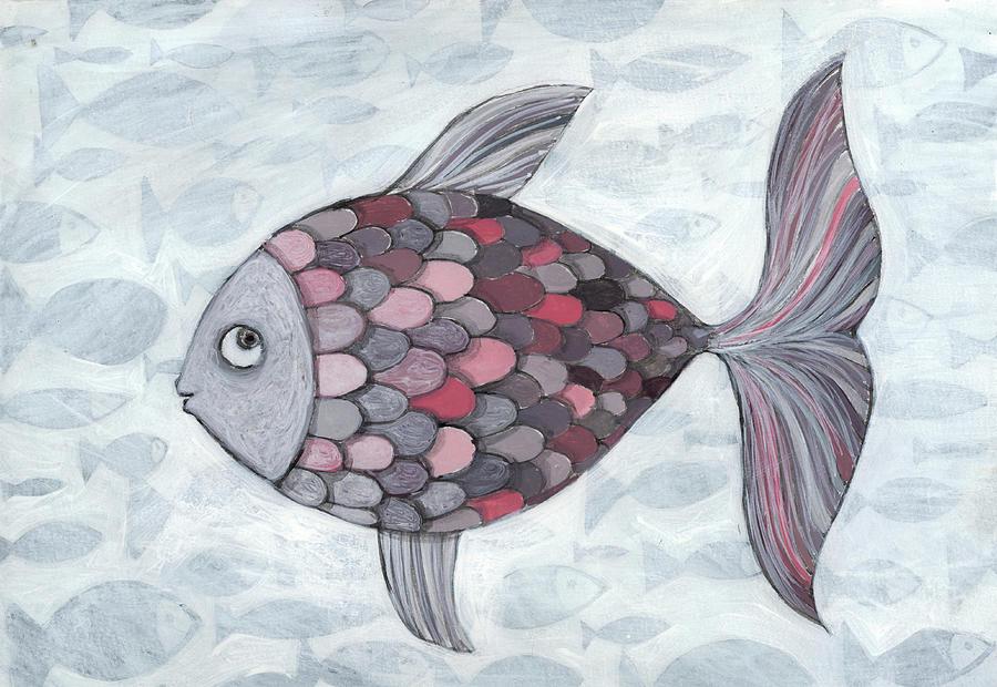 Horizontal Photograph - Pink Fish by Georgiana Chitac