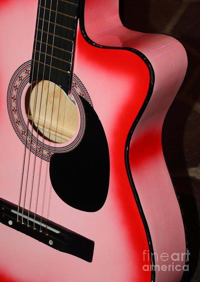 Pink Guitar Photograph By Carol Groenen