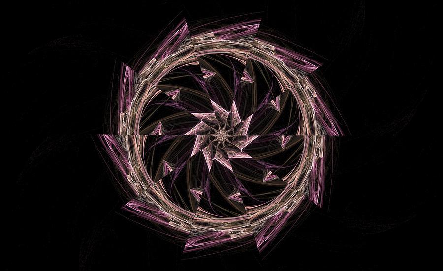 Digital Digital Art - Pink Haze by Rhonda Barrett