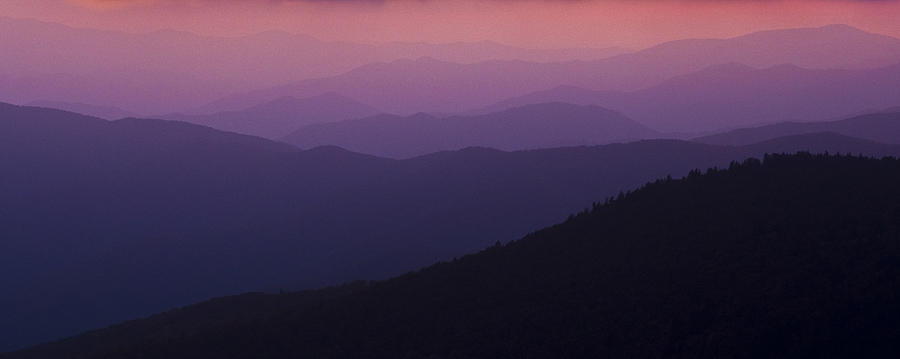 Mountains Photograph - Pink In Layers by Ryan Heffron