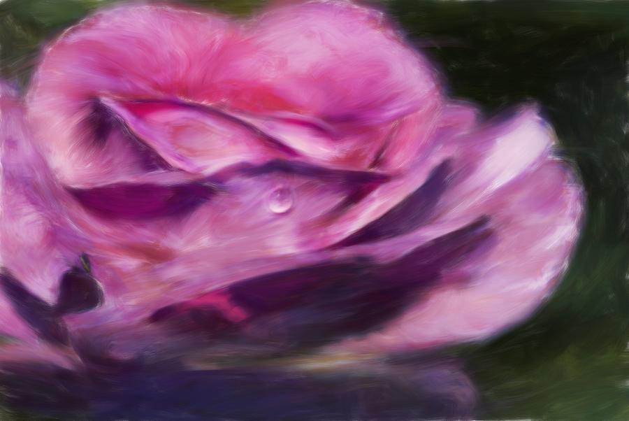Flower Digital Art - Pink by Jack Zulli