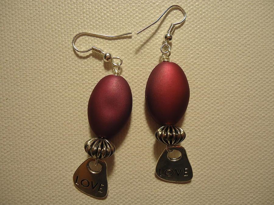 Pink Earrings Photograph - Pink Love Earrings by Jenna Green