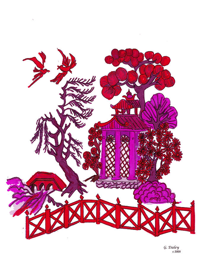 I-phone Cases Painting - Pink Pagoda by Gail Daley