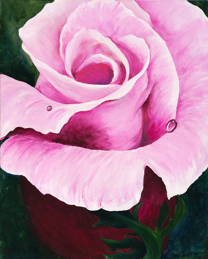 Pink Painting - Pink Rose by Carol McLagan