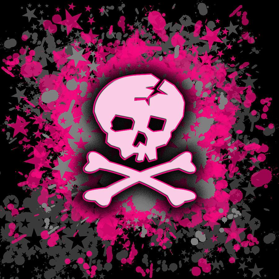 girly sugar skull wallpaper