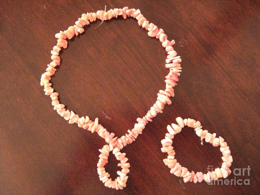 Pink Stone Necklace Bracelet Jewelry by Sonali Gangane
