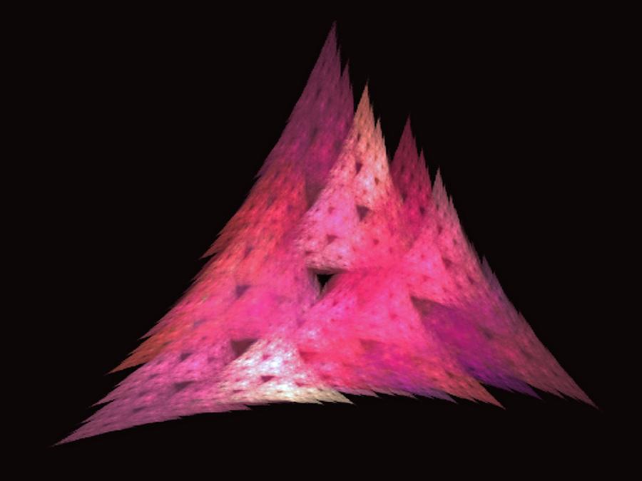 Triangles Digital Art - Pink Triangles by Lynn Bolt