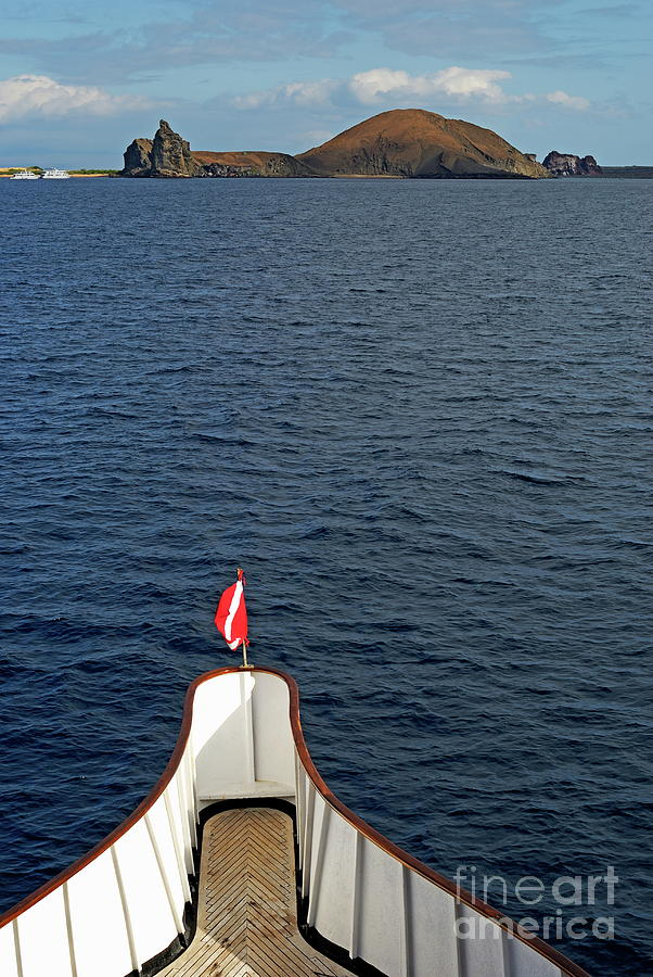 Nature Photograph - Pinnacle Rock Viewed From Sea by Sami Sarkis