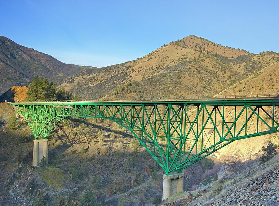 Arch Photograph - Pioneer Bridge by Loree Johnson