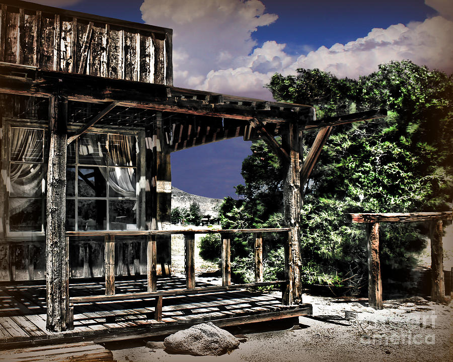 Old  Photography Photograph - Pioneer House by Danuta Bennett