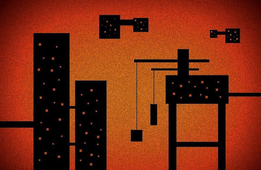 Industrial Digital Art - Pipeline by Richard Lloyd