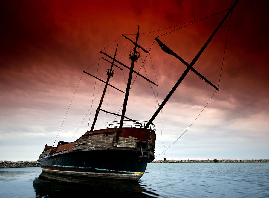 Pirate Photograph - Pirate Ship 2 by Cale Best