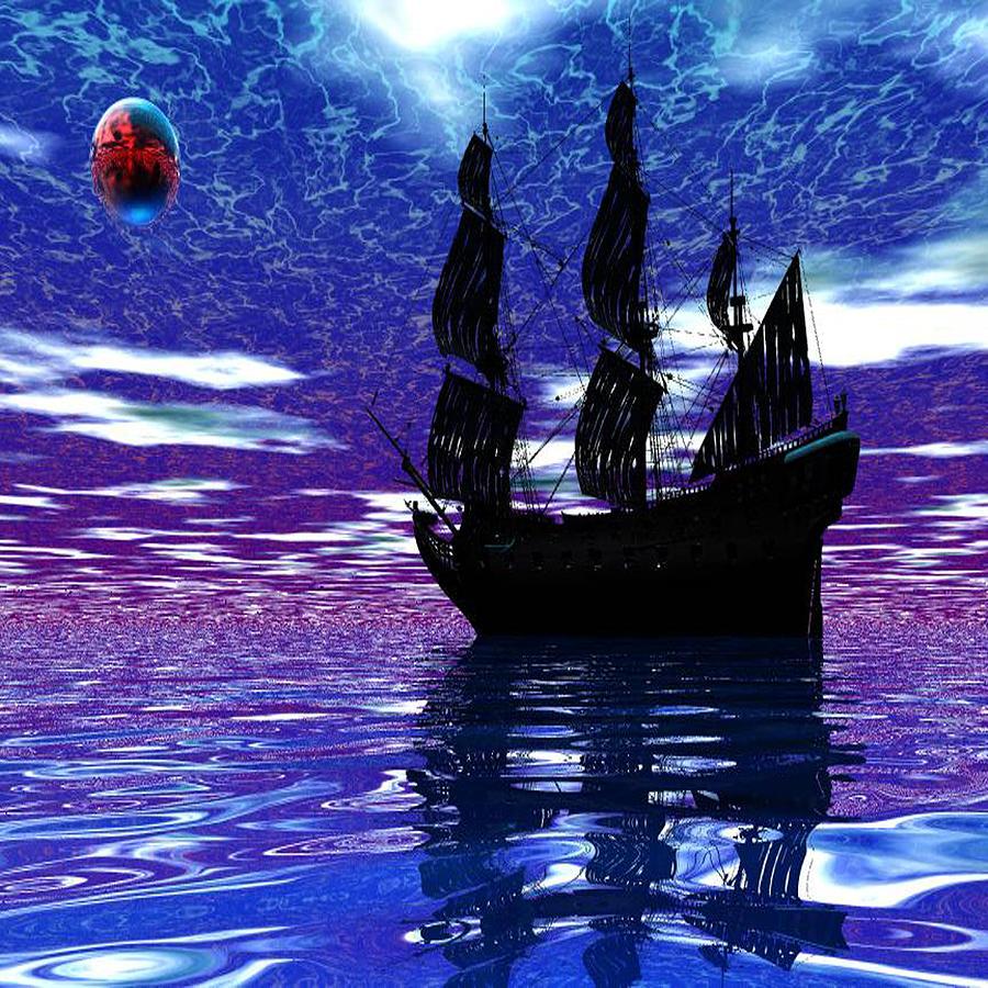 Pirate Digital Art - Pirate Ship by Matthew Lacey