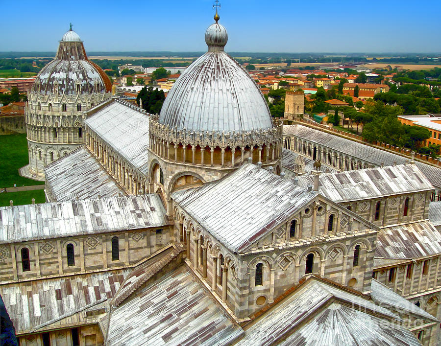 Pisa Cathedral Photograph - Pisa Cathedral From The Leaning Tower by Gregory Dyer
