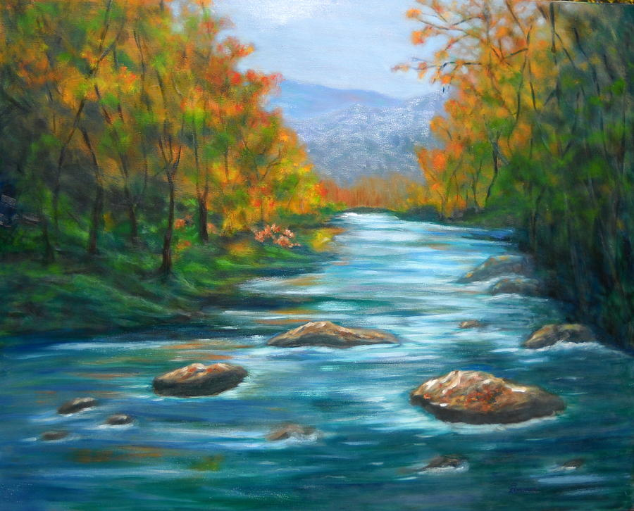 Pisgah Forest Painting - Pisgah Forest 1 by Sandy Hemmer