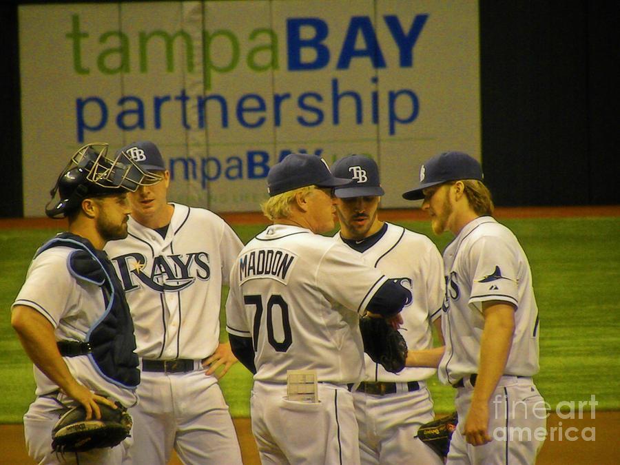 Baseball Photograph - Pitching Change by Becky Wanamaker