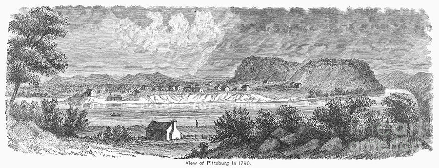 1790 Photograph - Pittsburgh, 1790 by Granger