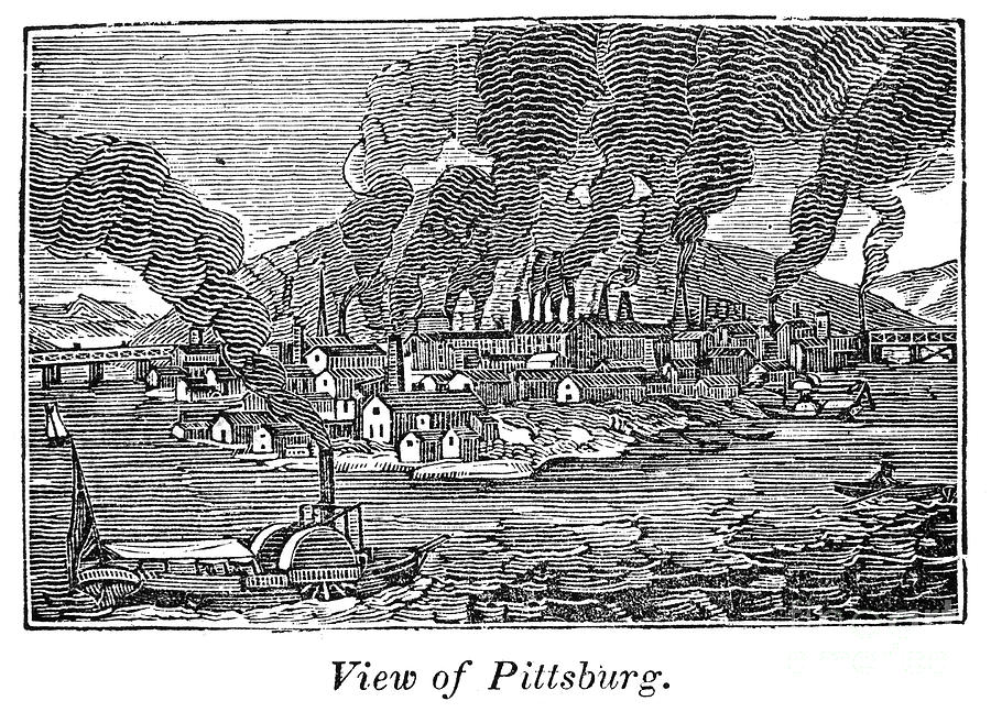 1836 Photograph - Pittsburgh, 1836 by Granger