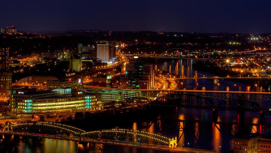 Monongahela River Photograph - Pittsburgh From Across The Monongahela River by David Hahn