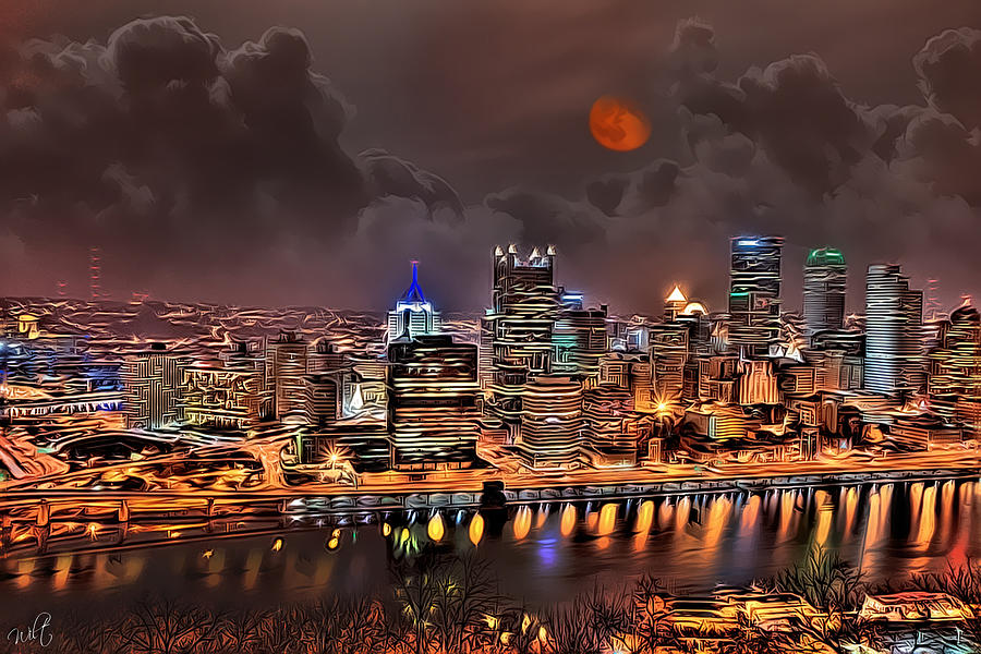 Pittsburgh Photograph - Pittsburgh Night Lights by Jason Wilt
