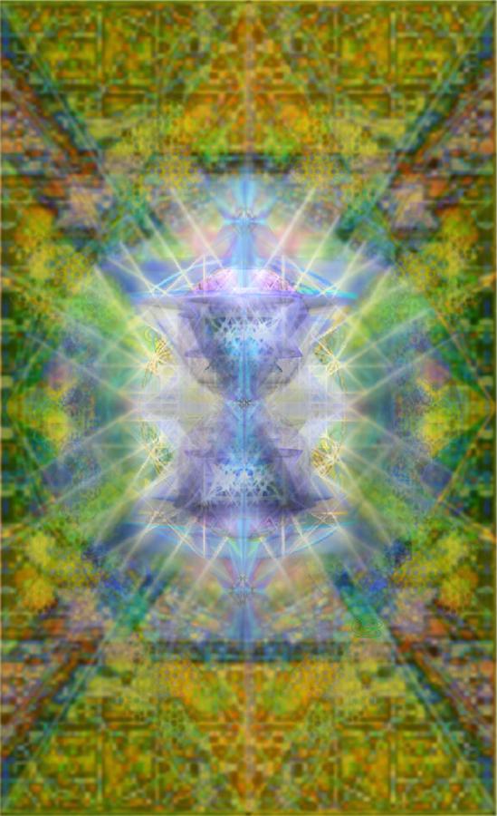 Garden Digital Art - Pivortexspheres Lt On Chalicell Garden Tapestry Iv by Christopher Pringer