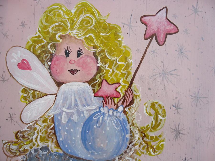 Angel Painting - Pixie Dust by Leslie Manley