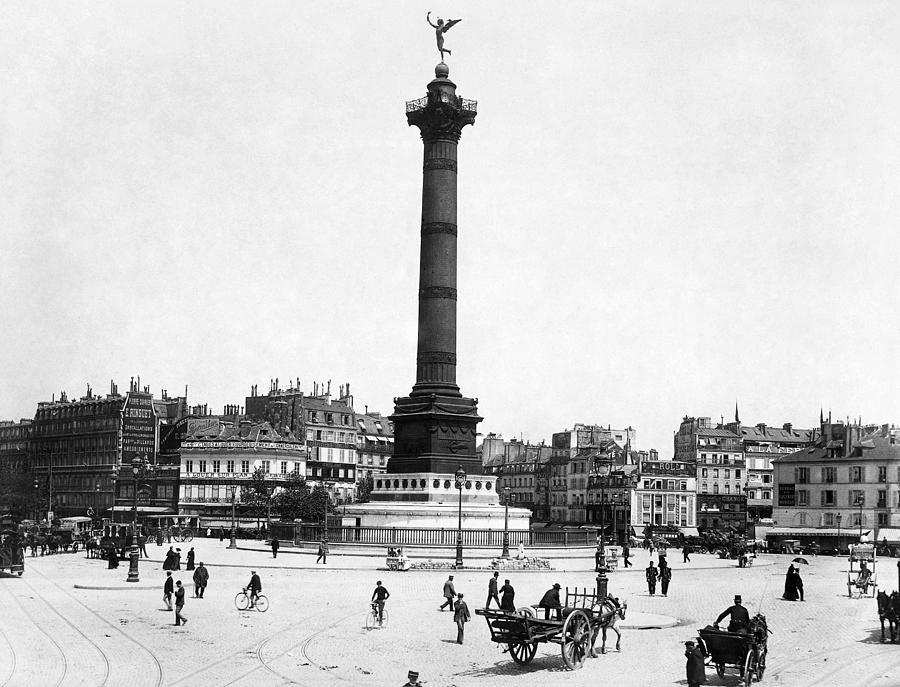 1900 Photograph - Place De La Bastille by Granger