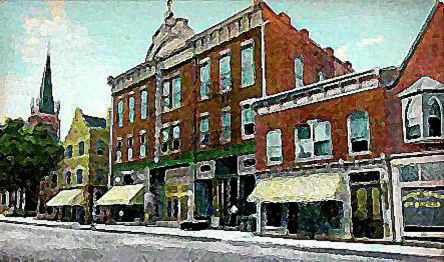 Theaters Painting - Plainfield Theatre In Plainfield N J 1907 by Dwight Goss