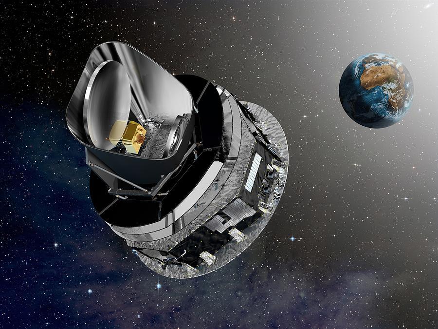 Planck Space Observatory Photograph - Planck Space Observatory, Artwork by David Ducros