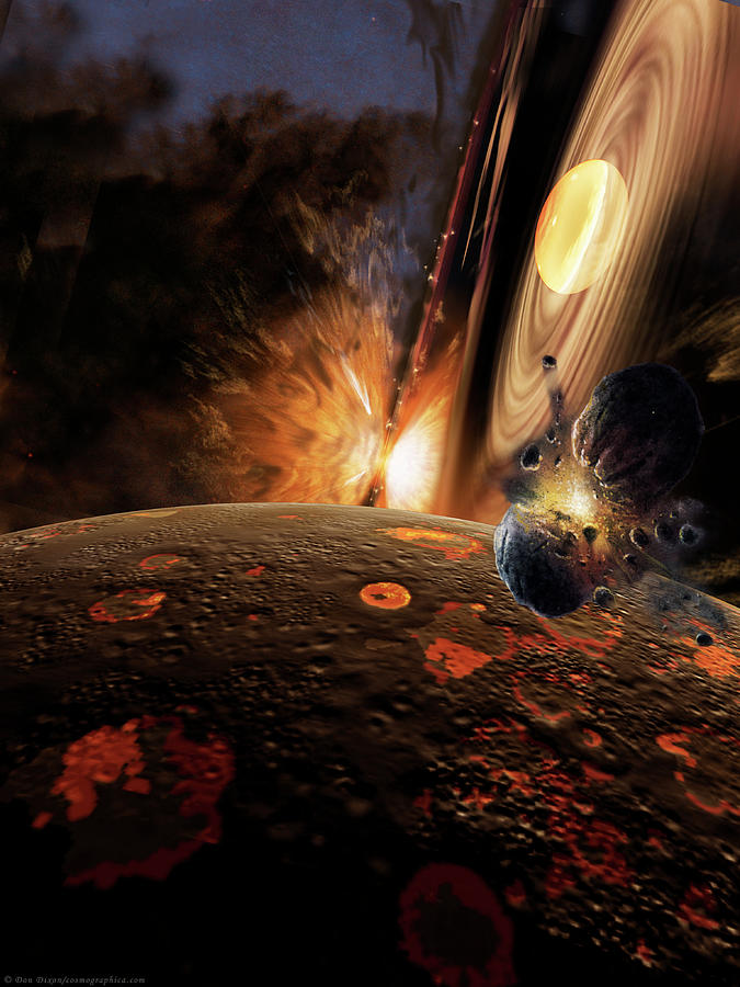 Space Painting - Planet Formation by Don Dixon