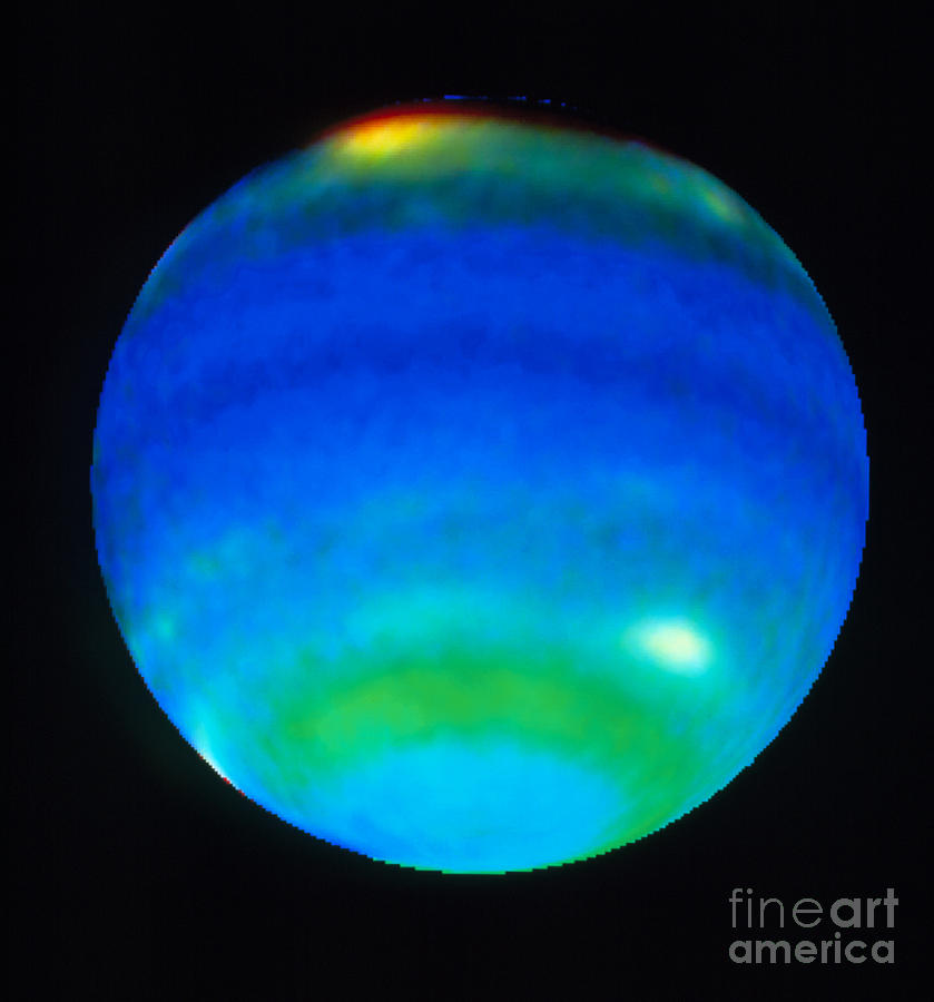 Planet Neptune Showing Weather Patterns Photograph By