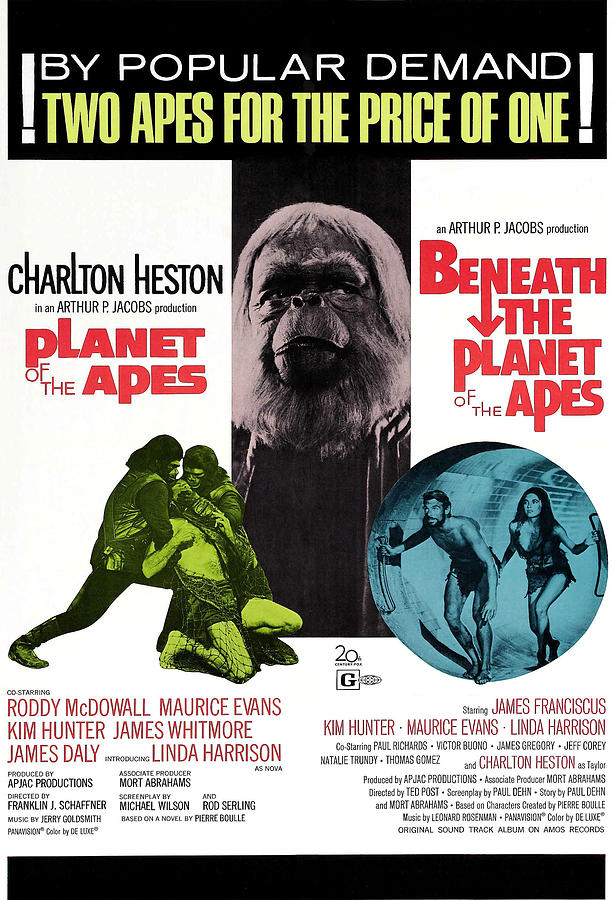 1970 Movies Photograph - Planet Of The Apes, 1968 by Everett