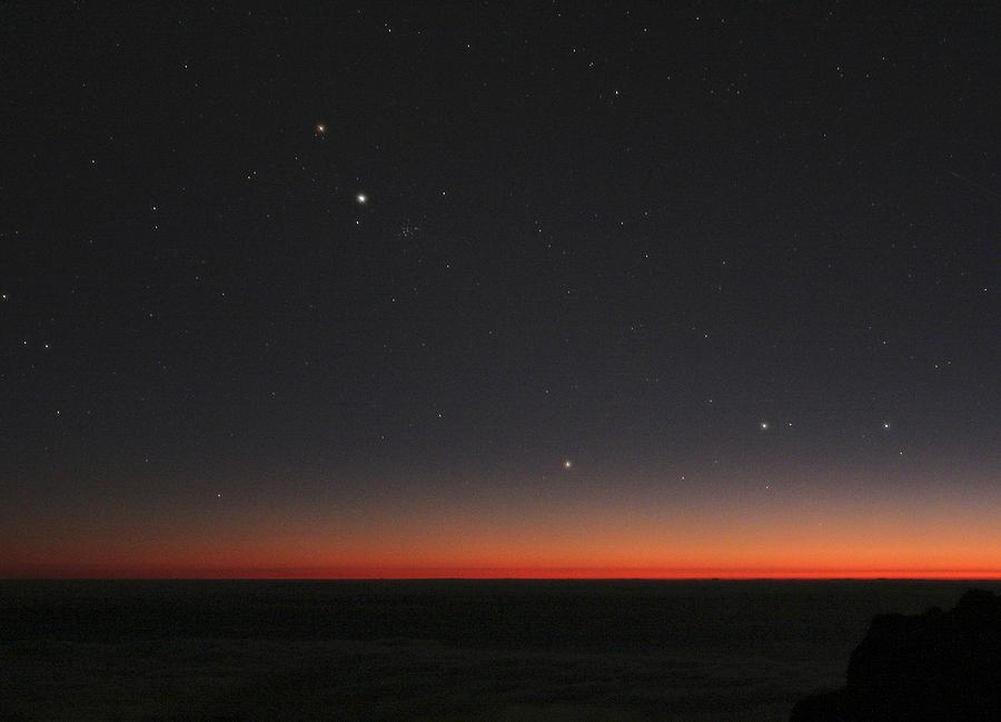 Gemini Photograph - Planetary Conjunction, Optical Image by Eckhard Slawik