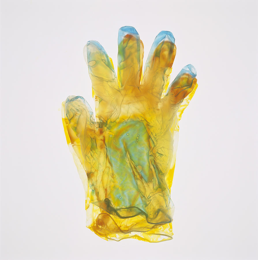 Glove Photograph - Plastic Glove by Kevin Curtis