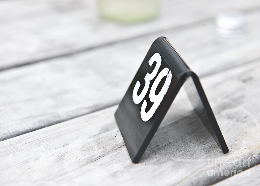 Plastic Number 39 Sign Photograph By Jacobs Stock Photography