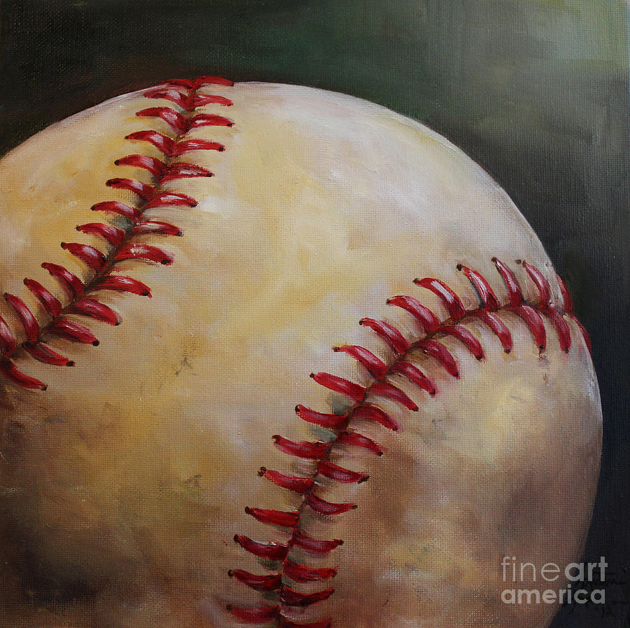 Baseball Painting - Play Ball No. 2 by Kristine Kainer