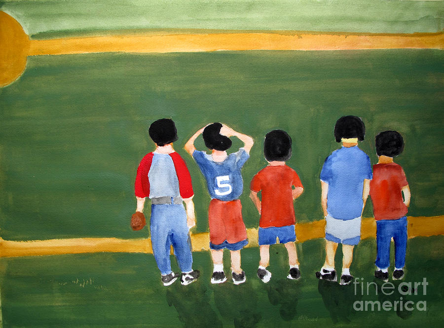 Baseball Painting - Play Ball by Sandy McIntire