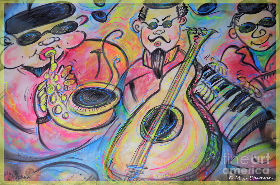 Blues Painting - Play The Blues by M C Sturman