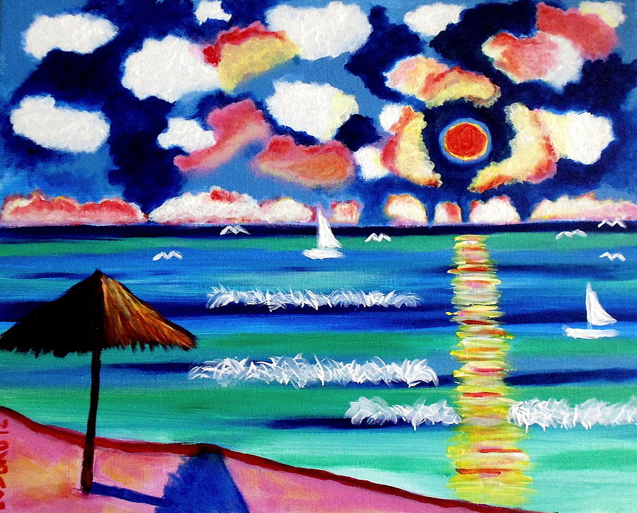 Playa Sol Painting by Ted Hebbler