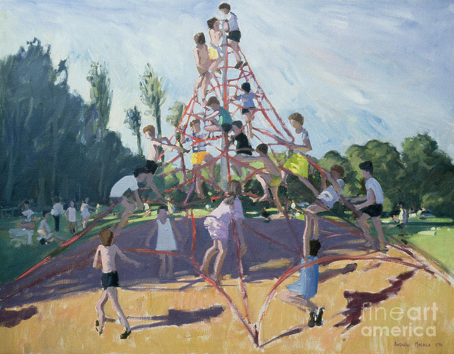 Climbing Frame Painting - Playground by Andrew Macara