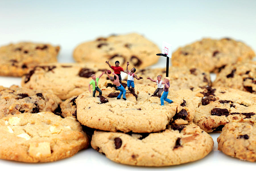 Play Photograph - Playing Basketball On Cookies by Paul Ge
