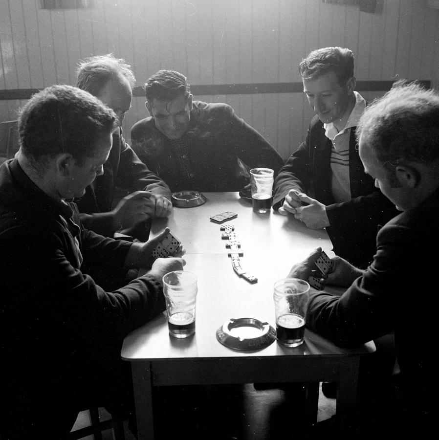 Adult Photograph - Playing Dominoes by John Drysdale