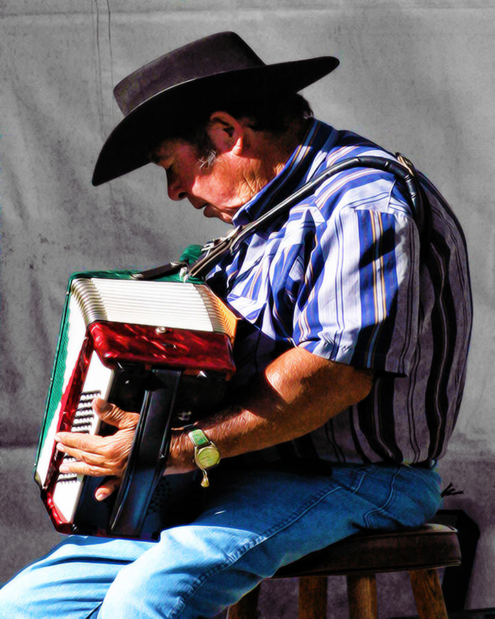Music Photograph - Playing For Taos by Terry Fiala